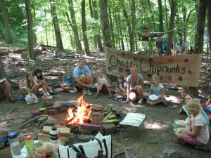Campsite challenge at Summer Camp