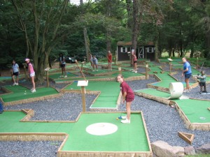 Mini golf at Summer Camp